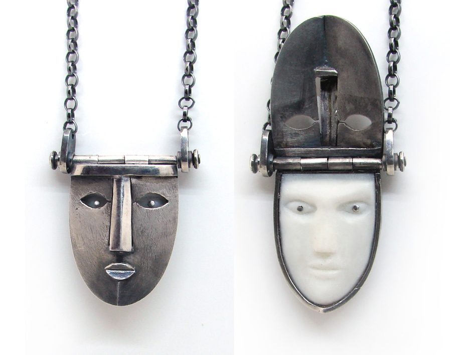 mysterious locket face pendant