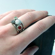 silver gemstones ring colorful elegant original