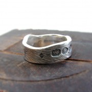 chunky engagement ring wood pattern