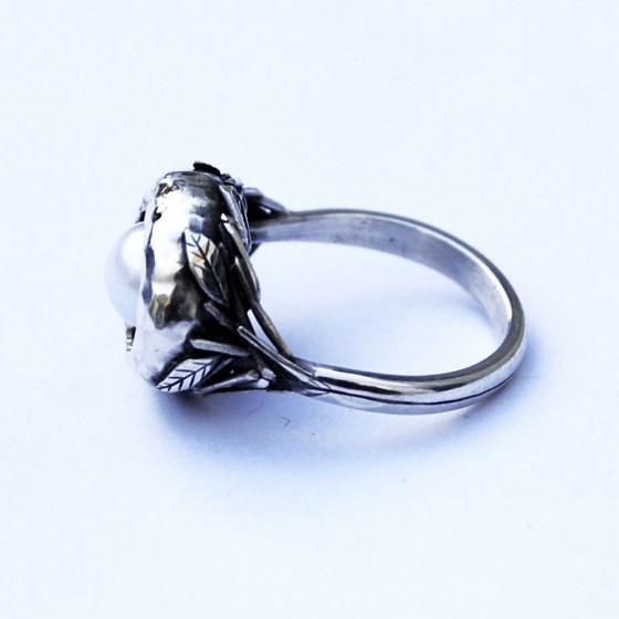 designer handmade silver ring