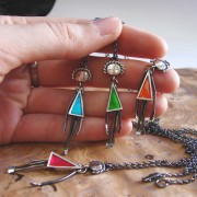 doll pendants silvene silver handmade