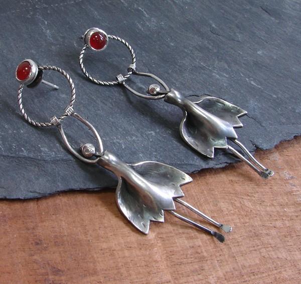 earrings cornelian
