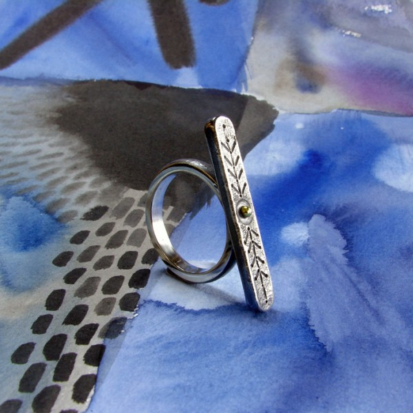 ethnic style silver ring