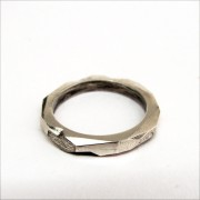 faceted silver band