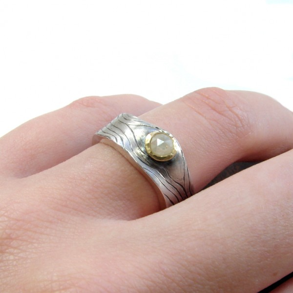 hallmark ring engraved silver spoon ring