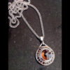 quartz and black diamond palladium pendant