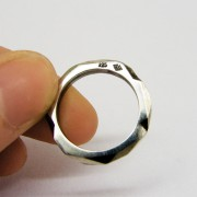 silver asymetrical geometric ring