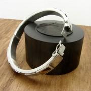silver chunky bangle