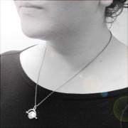 silver designer bird pendant