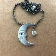 silver moon pendant