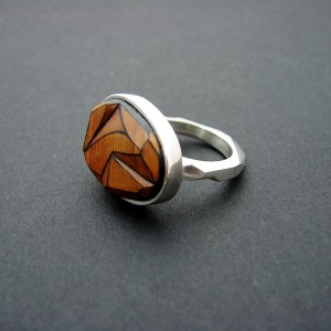 exotic wood ring