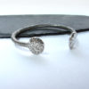 chunky silver bangle