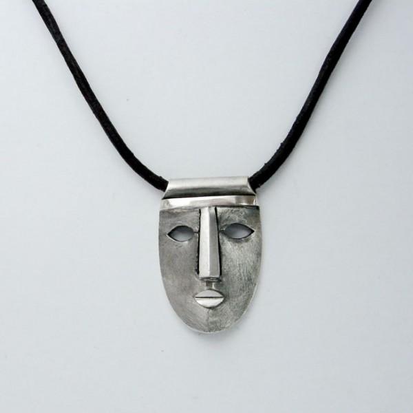 pendentif masque argent