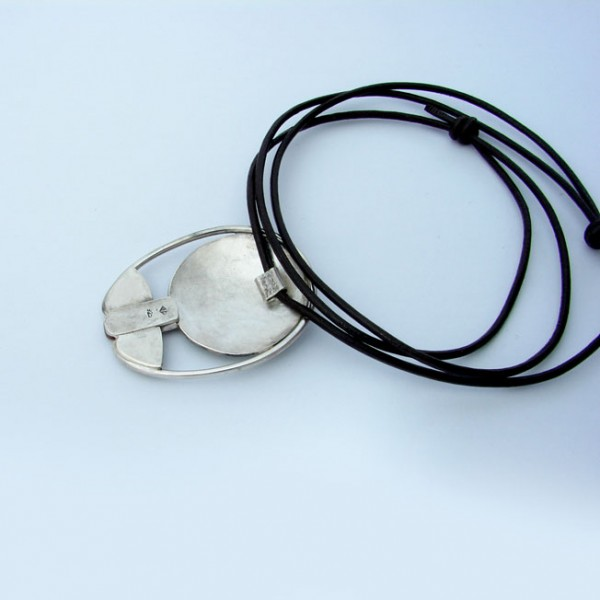 silver and cold enamel jewellery back