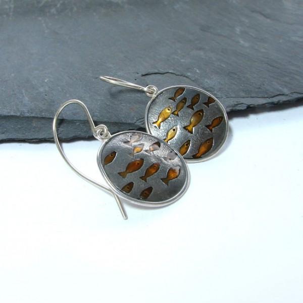 silver enamel jewellery