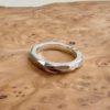 chunky silver wedding band men modern
