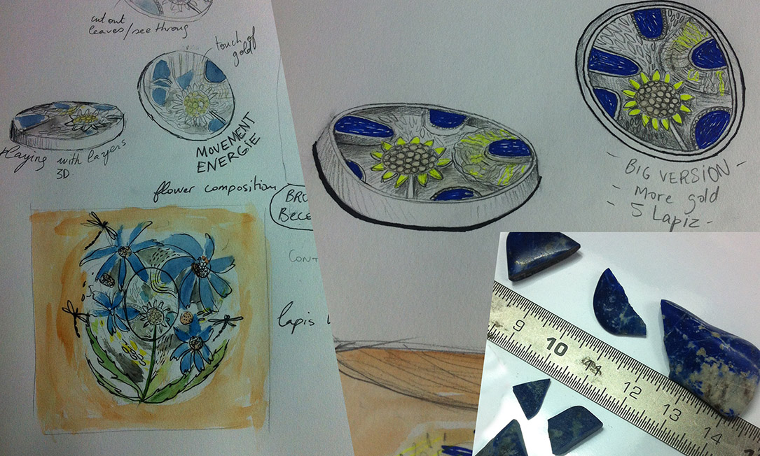 brooch drawings