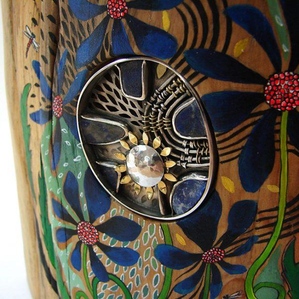handmade silver brooch