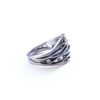 diamond ring, silver and gold ring