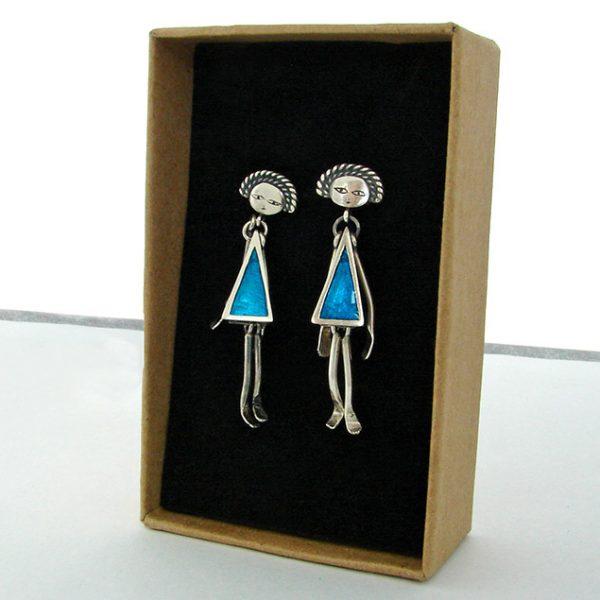 playful silver earrings