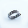 tree bark engraved silver ring