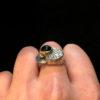 layered tourmaline ring