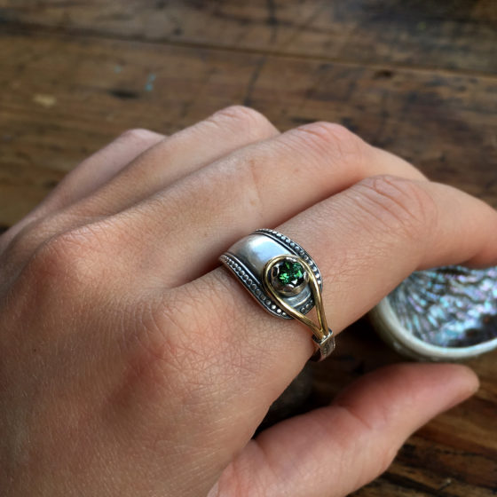 tourmaline spoon ring