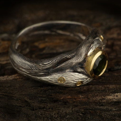 Forest ring with tourmaline 2