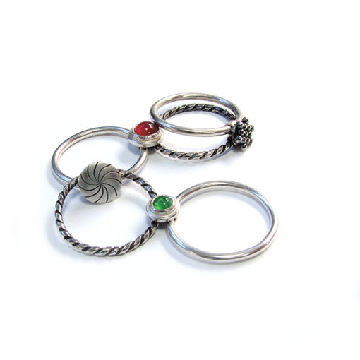 circus ring open, five thin bands