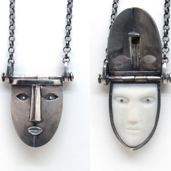 mysterious locket face pendant