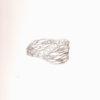 paladium and diamonds leaves ring