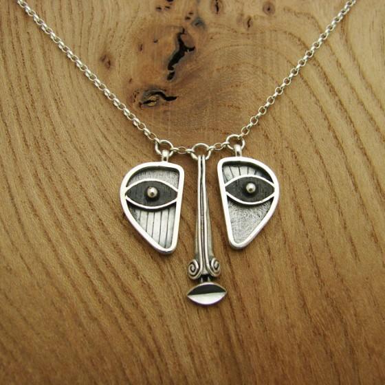 ebony and silver pendant