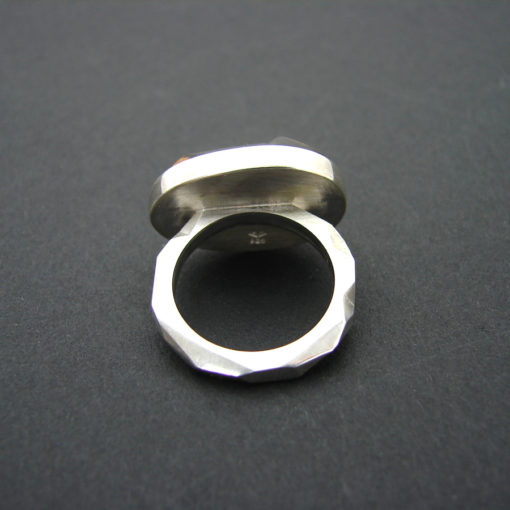 handmade silver and exotic wood ring