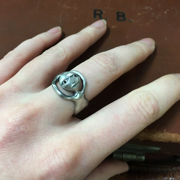 illustrative silver ring