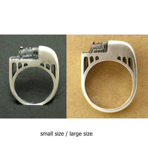 train ring large and small size