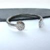 chunky silver bangle