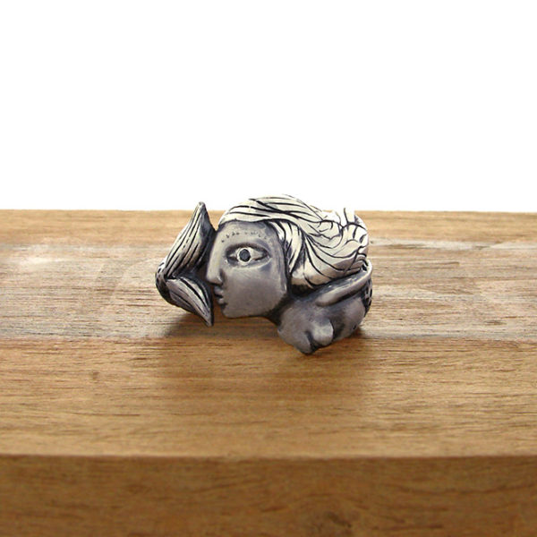 silver mermaid ring