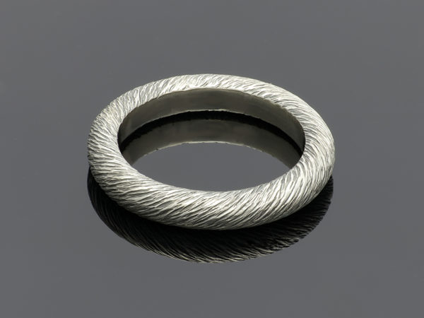 handmade silver twisted band