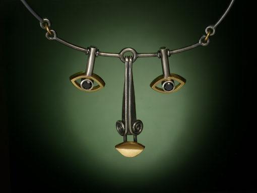 face necklace sylvaine frouin