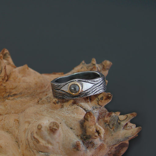 organic engagement ring