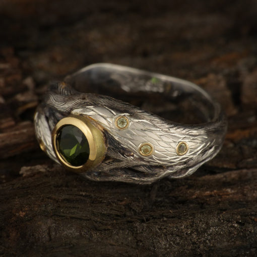 Forest ring with tourmaline 3